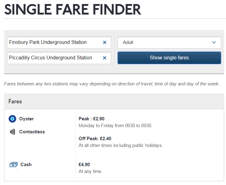 Single Fare Finder